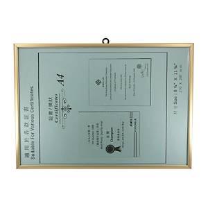 Frame A4 Gold