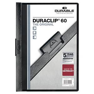 DURABLE 2209 A4 鋼夾文件套 黑色