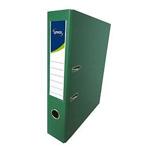 Lyreco PVC Lever Arch File F4 3 inch Green