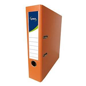 Lyreco 全包膠檔案夾 F4 3吋 橙色