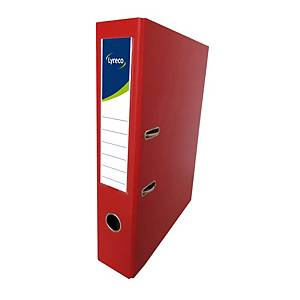Lyreco PVC Lever Arch File F4 3 inch Red