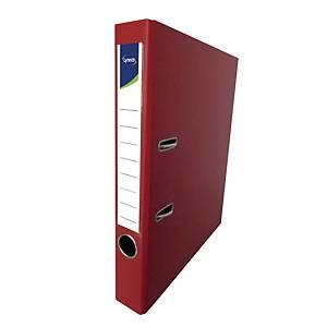Lyreco PVC Lever Arch File F4 2 inch Red