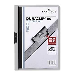 Durable Curaclip A4 Folder 6mm Grey - 60 Sheets Capacity