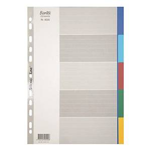 Bantex A4 PP Color Dividers 5 Tabs