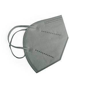 Pack de 20 mascarillas FFP2 Makito 6753 - sin válvula - gris