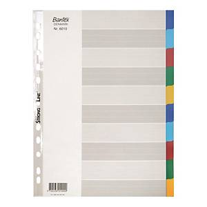 Bantex A4 PP Color Dividers 10 Tabs