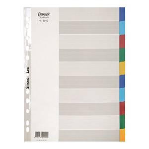 Bantex 辦得事 A4 塑膠顏色索引分類 10層