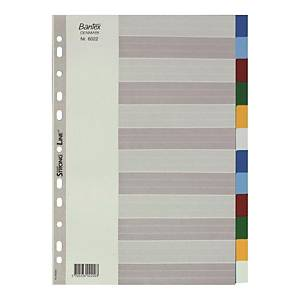 Bantex A4 PP Color Dividers 12 Tabs