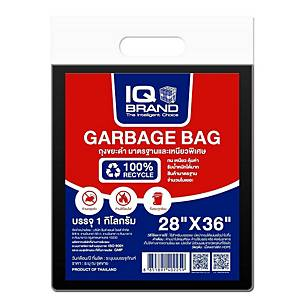 IQ 100% RECYCLE GARBAGE BAG 28X36  1 KG BLACK