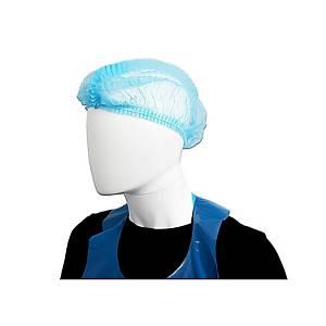 MICROTEX BOUFFANT CAP BLUE PACK OF 50