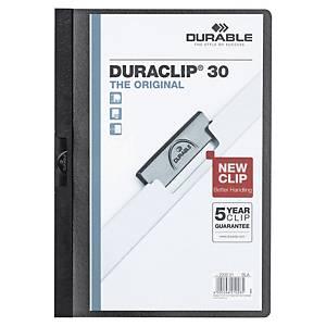 Klämmapp Durable DURACLIP, 30ark, A4-format, svart