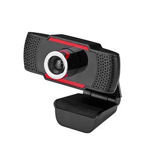 Manta W182 Webkamera, HD 720p, rot-schwarz