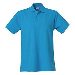 Polo manica corta Clique 028230 turchese tg S