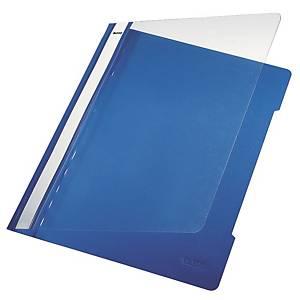 Chemise à lamelle Leitz 4191, A4, PVC, bleue, la pièce