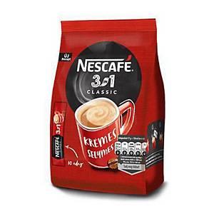 Nescafé Classic 3 az 1-ben instant kávé, 10x16,5 g/csomag