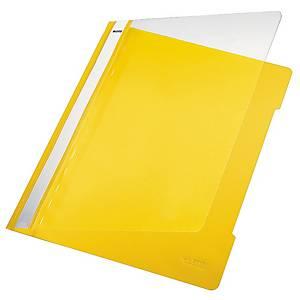 Leitz 4191 snelhechtmap, A4, PVC, geel, per map