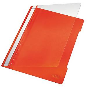 Chemise à lamelle Leitz 4191, A4, PVC, orange, la pièce