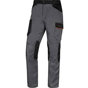 Pantalon de travail Deltaplus MACH2 V3, taille L, polyester/ coton, gris/orange
