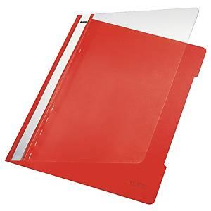 Leitz 4191 snelhechtmap, A4, PVC, rood, per map