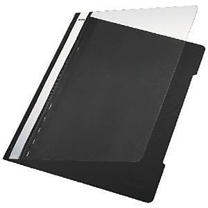 Leitz 4191 snelhechtmap, A4, PVC, zwart, per map