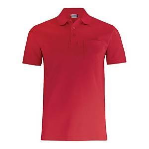 Polo con taschino manica corta Clique 028255 rosso tg XL