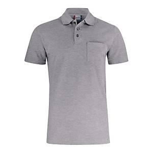 Polo con taschino manica corta Clique 028255 grigio tg L