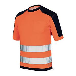 T-shirt alta visibilità Issa 8186 arancione / blu tg 3XL