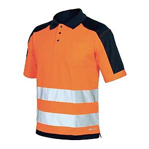 Polo manica corta alta visibilità Issa 8190 arancione / blu tg M