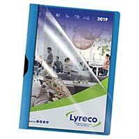 Lyreco clip folder A4 PP 30 pages blue - pack of 5