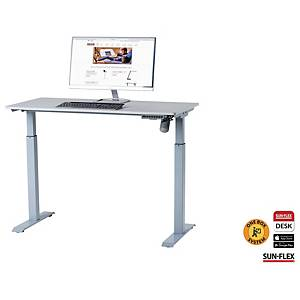 Hæve-sænke-bord Sun-Flex Easydesk Elite, elektrisk, 120 x 60 cm, grå/sølv