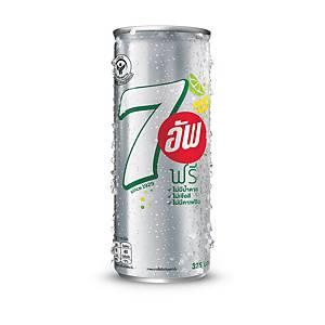 เซเว่นอัพ ฟรี เครื่องดื่มน้ำอัดลม ปราศจากน้ำตาล 325 มล.  แพ็ค 24 กระป๋อง