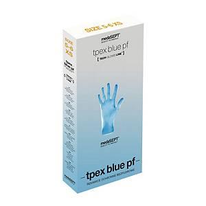 Rękawice jednorazowe MEDASETP TPEX PF, niebieskie, rozmiar S, 100 sztuk