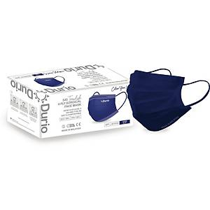 Durio 4Ply Surgical Face Mask (Denim Blue) - Box of 40