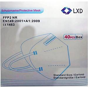 LXD respiratory mask, FFP2, 40 pieces