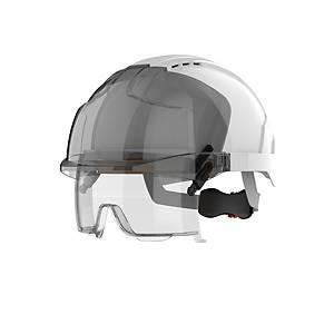 Casque de sécurité sur-lunette EVO VISTAlens ventilé serrage crémaillère - blanc