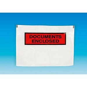 Zelfklevende paklijsthoezen, 240 x 115 mm, bedrukt, doos van 1000 stuks