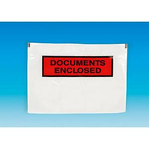 Self-adhesive packing list pockets 240x115mm printed - box of 1000