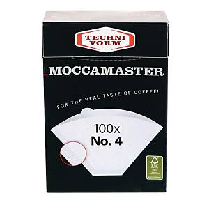 MOCCAMASTER COFFEE FILTERS 1X4 WHITE