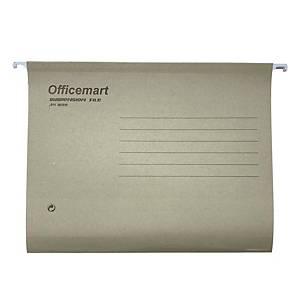 Officemart 吊掛式文件夾 A4 灰色 - 每盒25個