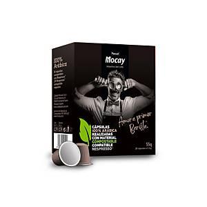 Pack de 10 cápsulas de café Mocay compostáveis