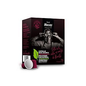 Pack de 10 cápsulas de café Mocay compostáveis - Descafeinado