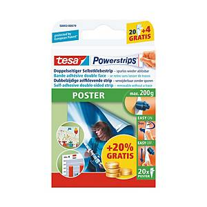 Powerstrips Tesa Poster, blanc, paq. 20unités