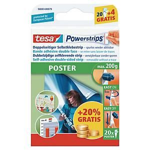 Powerstrips Tesa Poster, pakke à 20 strips