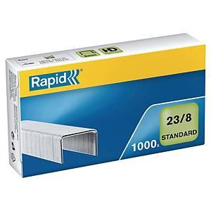 Caixa 1000 agrafos Rapid 23/8 - 8mm