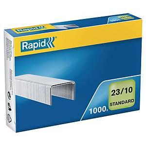 Agrafes Rapid Standard 23/10, galvanisées, 70 feuilles, les 1.000 agrafes