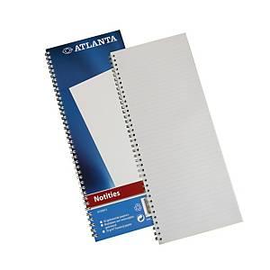Jalema Atlanta A103012 spiraal notitieboekje, 135 x 330 mm, gelijnd, 50 vellen