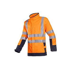 Sioen Playford 9633 hi-viz softshell, oranje/marine, maat L, per stuk