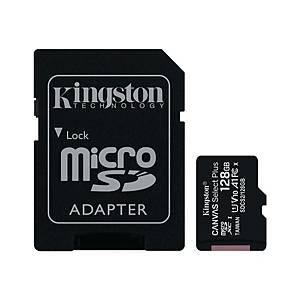 Kingston Canvas Select muistikortti microSDXC 128GB adapterilla