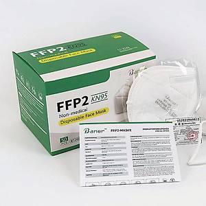 Baner FFP2 hengityssuojain ilman venttiiliä, 1kpl=50 suojainta