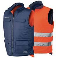 Gilet alta visibilità Issa Line 04069 reversibile arancione / navy tg XL